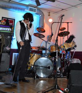 Halloween party at Sayde's in Salem NH - John channeling Jim Morrisson